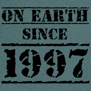 on earth since 1997 20th birthday 20th birthday - Men's V-Neck T-Shirt