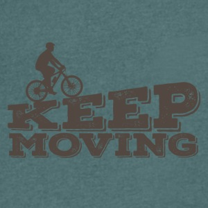 Fiets: Keep Moving - Mannen T-shirt met V-hals