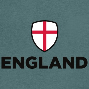 National Flag Of England - Herre T-shirt med V-udskæring