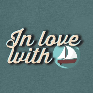 In love with boats - Men's V-Neck T-Shirt