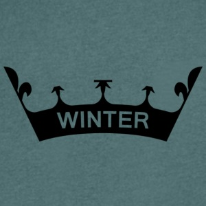 winter_crown - T-skjorte med V-utsnitt for menn