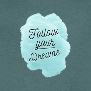 Follow Your Dreams - Mannen T-shirt met V-hals