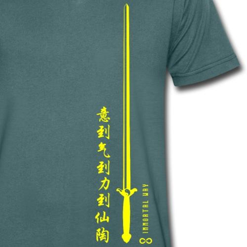 Immortal Way Tai Chi Sword - Men's Organic V-Neck T-Shirt by Stanley & Stella