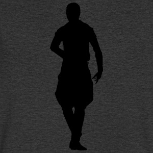 Conception de vecteur Singer and Dancer Silhouette - T-shirt Homme col V