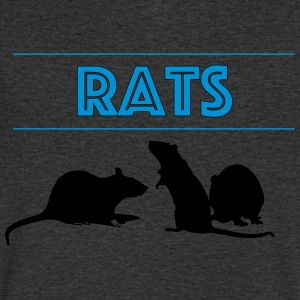 Rats With Rats' Silhouette - Men's V-Neck T-Shirt