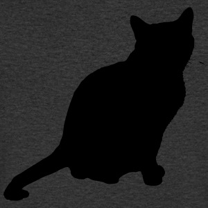 Vector Cat Silhouette - T-shirt Homme col V