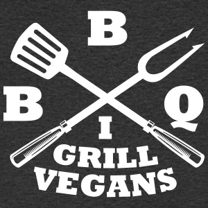 Barbecue in grill vegans (BBQ) - Men's V-Neck T-Shirt