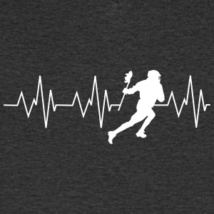 Heart beat lacrosse - Men's V-Neck T-Shirt