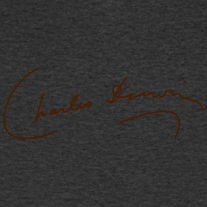 Charles Darwin Signature - Men's V-Neck T-Shirt