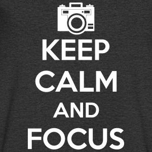 Keep Calm and Focus Photography - Men's V-Neck T-Shirt