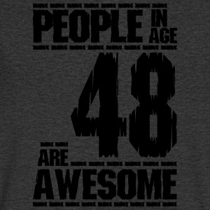 PEOPLE IN AGE 48 ARE AWESOME - Men's V-Neck T-Shirt