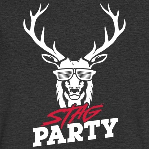 Stag Party - White Design - Men's V-Neck T-Shirt