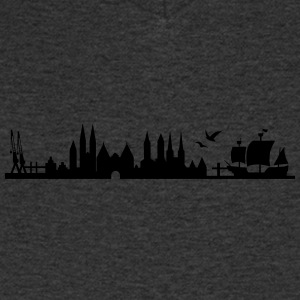 skyline Lübeck - Men's V-Neck T-Shirt