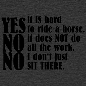 Yes, it is hard to ride a horse - Männer T-Shirt mit V-Ausschnitt