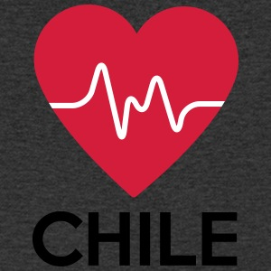 heart Chile - Men's V-Neck T-Shirt