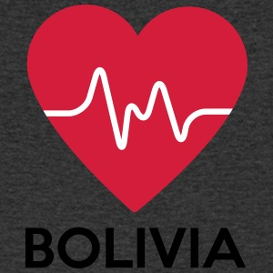 heart Bolivia - Men's V-Neck T-Shirt