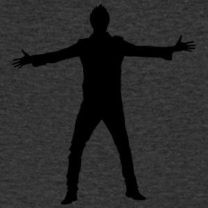 Man body Silhouette vector design - Men's V-Neck T-Shirt