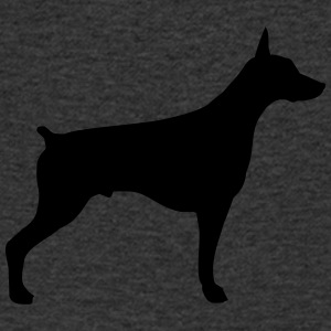 Doberman silhouette - Men's V-Neck T-Shirt