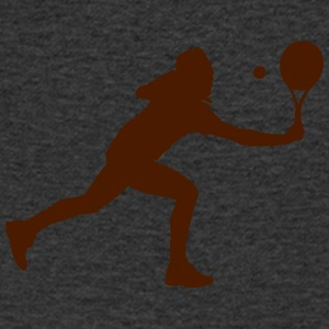 Tennis player silhouette - Men's V-Neck T-Shirt