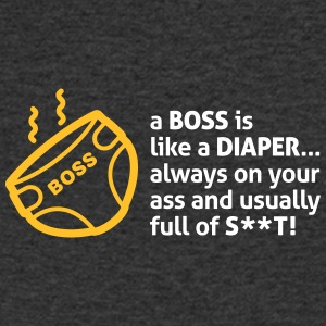 Bosses Are Like Diapers, Full Of Shit! - Men's V-Neck T-Shirt