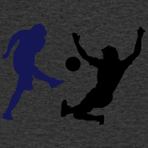 Soccer football player silhouette 4 - Men's V-Neck T-Shirt