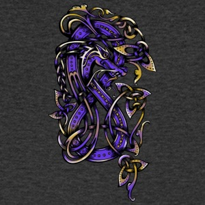 Purple Dragon - Men's V-Neck T-Shirt