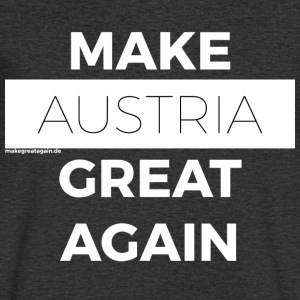 MAKE AUSTRIA GREAT AGAIN white - Men's V-Neck T-Shirt