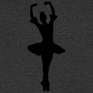 Dainty Ballet ballerina with tutu and crown - Men's V-Neck T-Shirt