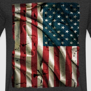 Vintage USA Flag - Men's V-Neck T-Shirt