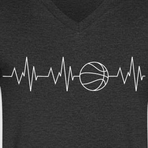 Basket-ball battement de coeur - T-shirt Homme col V