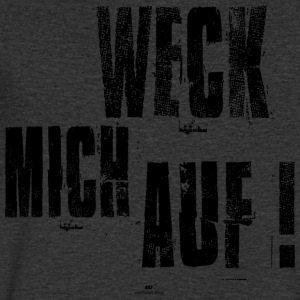 Wake me up - Mannen T-shirt met V-hals