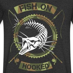 fish on white camo - Men's V-Neck T-Shirt