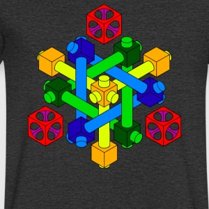 Optical Illusion Design - Men's V-Neck T-Shirt