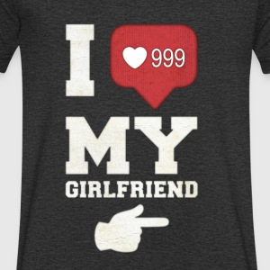 I love my girlfriend - Men's V-Neck T-Shirt