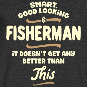 Smart, good looking and FISHERMAN... - Männer T-Shirt mit V-Ausschnitt