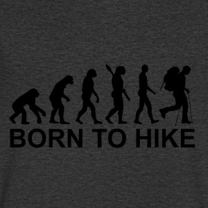 Born to hike - Mannen T-shirt met V-hals