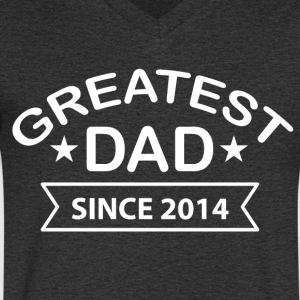 Greatest Dad siden - T-skjorte med V-utsnitt for menn
