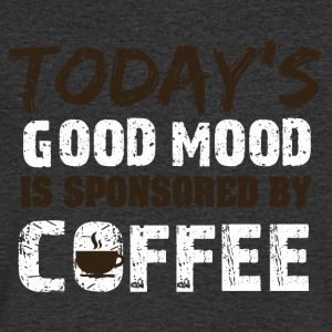 Todays good mood is sponsorend by coffee - Männer T-Shirt mit V-Ausschnitt