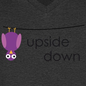 Bird upside down - Men's V-Neck T-Shirt