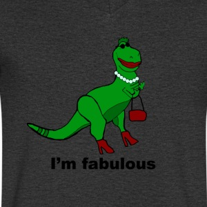 Fabulous Dinosaur - Men's V-Neck T-Shirt