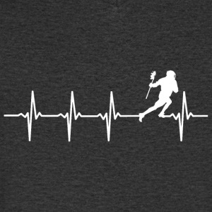 Lacrosse - heart beat - Men's V-Neck T-Shirt