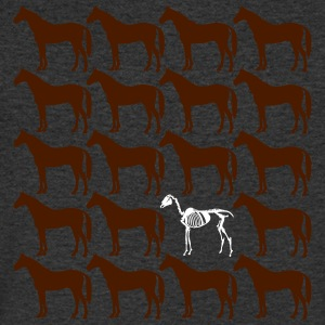 chevaux - T-shirt Homme col V