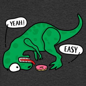 T-REX trying to eat a donuts T-shirt - Men's V-Neck T-Shirt