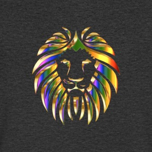 gold rainbow colored lion head - Men's V-Neck T-Shirt
