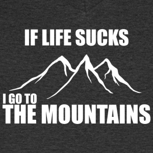 If life sucks - i go to the mountains - Männer T-Shirt mit V-Ausschnitt