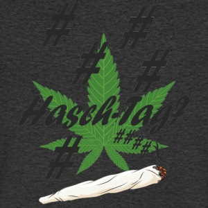 Hash tag with hemp leaf - Men's V-Neck T-Shirt