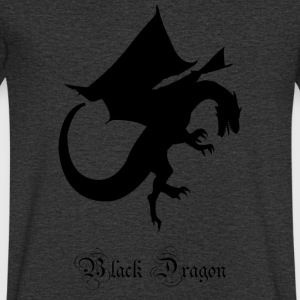 Black Dragon - Men's V-Neck T-Shirt