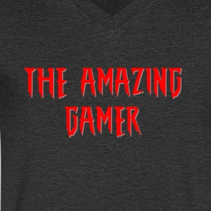 The Amazing Gamer - T-skjorte med V-utsnitt for menn