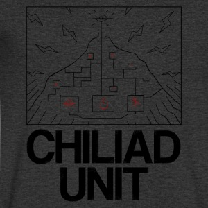 Chiliad Unit - T-skjorte med V-utsnitt for menn