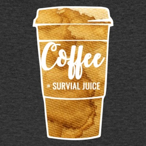 Coffee = survive - Men's V-Neck T-Shirt